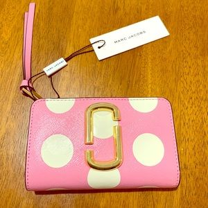 Marc Jacobs Pink Polka Dot Compact Wallet